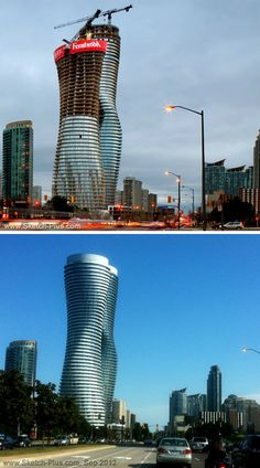 The #Absolute #Towers, Mississauga, Canada... Before and After completion.