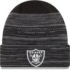 bd162a95da0 Oakland Raiders New Era 2017 Sideline Official TD Knit Hat - Black