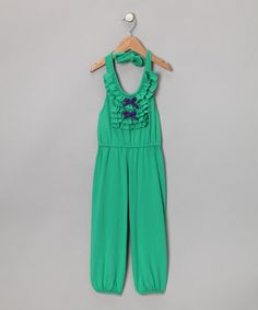 Take a look at this Green Ruffle Jumpsuit - Toddler & Girls by Buckleberry Kids on today! Toddler Jumpsuit, Ruffle Jumpsuit, Playsuit, Princess Outfits, Girl Outfits, One Piece Jumper, Little Fashionista, Fashion Moda, Cute Outfits For Kids