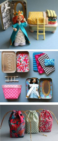 Neat idea! Cute little Princess and the pea toy set - in a candy tin! :D