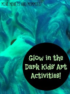 Glow in the dark art! Are you looking for a spooky Halloween activity? Kids can add glowing paint to model magic, shaving cream and more!
