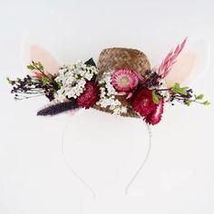 DIY Pâques : découvrez un tutoriel gratuit pour faire un serre-tête lapin pour enfant Spring, Egg Hunt, Alice Band, Floral, Rabbits