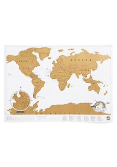 Would Ya Look at Map?. Showcase where youve been and where youve yet to go with this scratch-off map! #multi #modcloth
