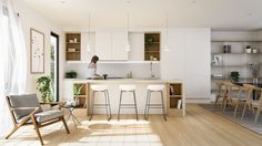 Some Of The Best Minimalist Kitchen Design Ideas You Can Have In Your Kitchen No one likes to cook in outdated kitchen and for that you need perfect interior design for your kitchen. Here are the best minimalist kitchen design ideas for you. Luxury Kitchen Design, Luxury Kitchens, Interior Design Kitchen, Kitchen Designs, Japanese Interior, Scandinavian Interior, Interior Decorating, Decorating Ideas, Home Decor Kitchen