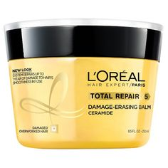 Total Repair 5 Damage Erasing Balm is a rinse-out reconstructing balm that repairs up to one year of damage in 1 use*. Both powerful and luxurious, the balm instantly repairs the 5 signs of damage - split ends, weakness, roughness, dullness, and dehydration. Packaging may vary, what you receive may not be what is reflected on site.<br><br>*Reverses damage to hair's smoothness with daily use, when using the system of shampoo & balm.<br><br>After using Total Rep...