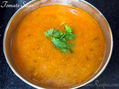 Fresh Tomato Recipes, Fresh Tomato Salsa, Easy Indian Recipes, Ethnic Recipes, Vegetarian Gravy, Tomato Rice, Dried Vegetables, Red Chili Powder, Fresh Coriander
