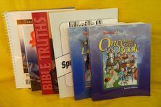 Bob Jones Science 3 w. Teacher, Reading & Bible Truths 3 Workbook, LN Shape, BJU #TextbookBundleKit
