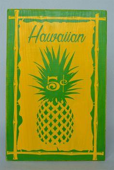 ハワイのパイナップルスタンド看板をイメージしたウッドサイン