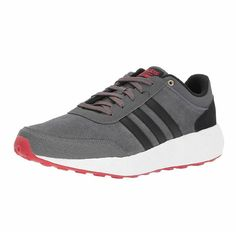 2ed05249383 NIB Adidas NEO Men's CF Race Running Shoes Grey Black Scarlet Size 11.5  #adidas Adidas