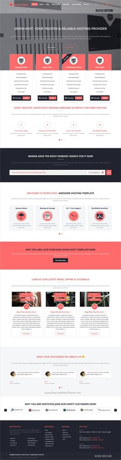 Seven Host is a clean , modern and creative 7in1 responsive #WordPress Theme for your Webdesign #Hosting Business, creative agency, Technology Websites download now➩ https://themeforest.net/item/seven-host-hosting-wordpress-template/17141084?ref=Datasata