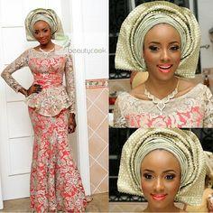 Gorgeous bride ! Love the fabric & style ! Makeup by @beautycookstudio #NWbrides #Hausabride #NigerianWedding