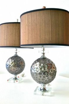 New Chrome & Lucite Lamps