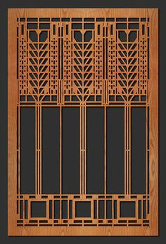 "Frank Lloyd Wright MARTIN Triple Tree Window Design WALL Element 35.5""h CHOICE  