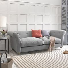 Small Chesterfield Style Sofa | Chester Chester Sofa in thatch house fabric - Sofas | Loaf
