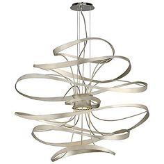 Calligraphy LED Pendant by Corbett Lighting. Two 3 Watt (260 Lumens) 120 Volt G9 Double Loop Base LED Lamp(s) (Included)