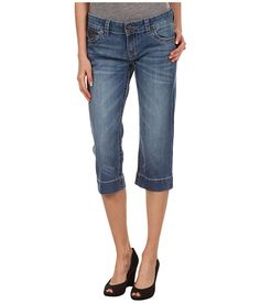 KUT from the Kloth Kate Back Flap Crop in Enhance Love these, bought 2 pair @ Nordstrom Rack 2 summers ago. Paid $42.00 then and still love these Jeans. So flattering and I wear a size 4 in KUT Jeans :)