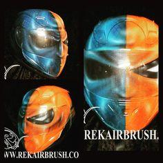 Rekairbrush Custom Airbrushed Motorcycle Helmet 418