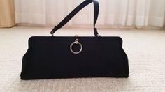 "Vintage ""In Style"" by GDK Black Purse handbag Clutch #InStylebyGDK #Clutch #ebay #purse #handbag #vintage #fashion"