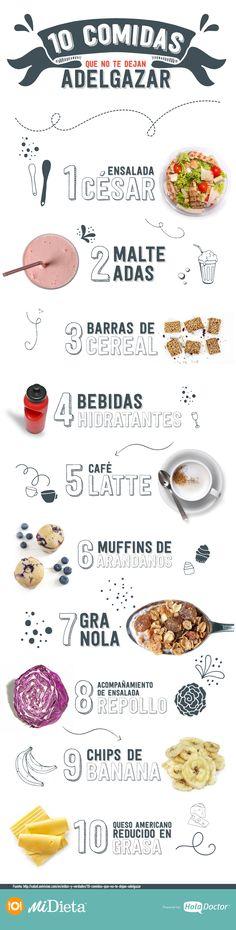 10 Alimentos que no te dejan adelgazar