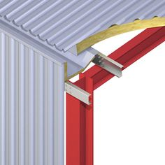 Gutter details for Metsec Purlins and Eaves Beams - Aydın Durmuş - Steel Cladding, House Cladding, Steel Structure Buildings, Roof Structure, Roof Truss Design, Steel Frame House, Warehouse Design, Casas Containers, Roof Trusses