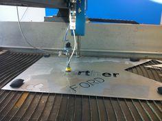 High pressure metal cutter using water at TechShop Metal Cutter, Motors, June, Ford, Water, Gripe Water, Motorbikes