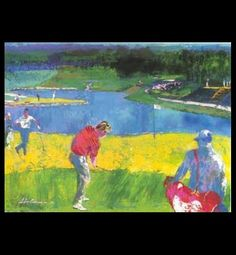 Image result for LeRoy Neiman Abstract Golf River Scenery