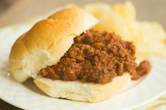 A homemade recipe for Sloppy Joes, a classic. Homemade Sloppy Joe Recipe, Homemade Sloppy Joes, Sloppy Joes Recipe, Meat Recipes, Appetizer Recipes, Chicken Recipes, Cooking Recipes, Cooking Corn, Appetizers