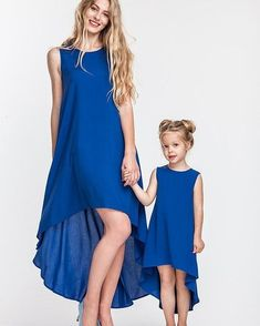 Irregular Mother Daughter Dress Family Matching Outfits Look Mommy and Me Clothes Mom Mama Mum and Daughter Dresses Clothing WT We offers a wide selection of trendy style women's clothing. Affordable prices on new tops, dresses, outerwear and more. Mommy And Me Dresses, Mother Daughter Dresses Matching, Mother Daughter Fashion, Mommy And Me Outfits, Mom Dress, Matching Family Outfits, Toddler Girl Outfits, Girls Dresses, Matching Clothes