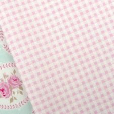 Tilda Kitchen garden, pink and white mini gingham print fabric/ pale baby rose