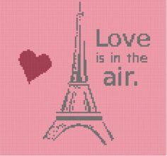 Paris Love Cross Stitch Pattern