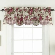 Waverly Norfolk by Window Valance, Tea Stain For Sale Country Valances, Country Curtains, Cafe Curtains, Drapes Curtains, Kitchen Window Curtains, Floral Curtains, Drapery, Valance Window Treatments, Kitchen Window Treatments