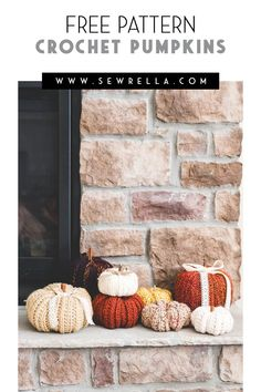 Rustic autumnal home decor doesnt get better! Make this easy pattern in a variety of yarns with loads of texture and scatter them about the home this fall I love placing these at the tabletop by the fireplace or even on the porch! Crochet Pumpkin Pattern, Easy Crochet Patterns, Crochet Patterns Amigurumi, Crochet Designs, Crochet Ideas, Knitting Patterns, Pumpkin Patterns, Fall Patterns, Crochet Fall