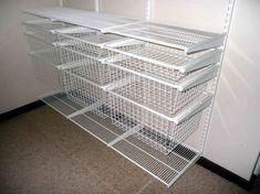 27 ideas small closet organization cheap garage for 2019 Wire Closet Shelving, Small Closet Storage, Closet Drawers, Small Closet Organization, Closet Shelves, Bedroom Organization, Basket Organization, Organizing Drawers, Wall Shelves