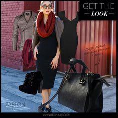 6cb81eda4b7 Micaela cuero negro estampado fantasía. Moda - carteras - outfit - look -  fashion -