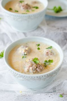 Giouvarlakia Avgolemono Soup is a very tasty, yet light meal for cooler days. Greek Recipes, Desert Recipes, Light Recipes, Soup Recipes, Cooking Recipes, Anti Candida Recipes, Easy Healthy Recipes, Easy Meals, Minced Meat Recipe