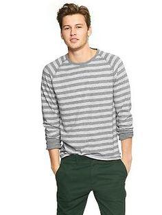 Striped raglan slub T--$26.95-keith