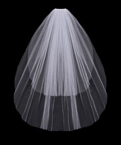 Two Layer Wedding Veil with Rhinestone Scatter