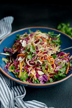 Cilantro Coleslaw with Lime Vinaigrette l SimplyScratch.com