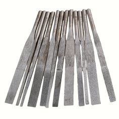 CNBTR Round Shank Hand Grit 150# 200# 300# 400# Diamond Flat Files Set 72mm Long Pack of 12 -- Awesome products selected by Anna Churchill