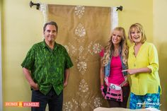 Use any fabric & pattern to create a Wall Tapestry! DIY by @paigehemmis on #homeandfamily!