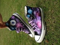 I found 'Galaxy Converse Sneakers Hand Painted High Top' on Wish, check it out! [Unable To Find/Sold Out]