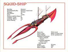 Spelljammer Ship - Squid-Ship