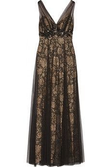 Mikael Aghal Embellished tulle gown   THE OUTNET