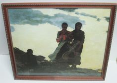 Early Evening by Winslow Homer A Collograph Print #2093 Wood Frame Glass 18 x 21 #Realism