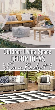 Outdoor Living Space Ideas That Won't Break Your Budget - Spend more time outside with these outdoor living space ideas that won't cost a lot of money and will help you make the most of your outdoor space.  #outdoordecor #patioideas Outdoor Sofa Sets, Outdoor Spaces, Outdoor Living, Outdoor Furniture Sets, Outdoor Decor, Outdoor Ideas, Fold Up Chairs, Cute Furniture, Furniture Design