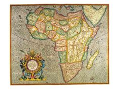 Map of Africa 1633 by Gerardus Mercator