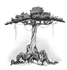 California Trees - Isaac Orloff - http://www.orloffillustration.blogspot.com/