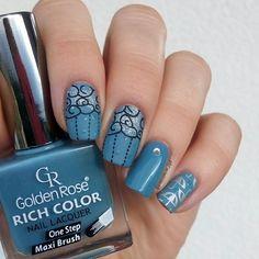 "Polubienia: 168, komentarze: 5 – Jagoda 🇵🇱🇷🇺 Ягода (@paznokcie_jgd) na Instagramie: ""⛅💧☔☁. Jesienny spacer w deszczu też jest fajny. 🌂. . . . #paznokcie #deszczowepaznokcie…"" Nail Colors, Nails, Instagram Posts, Beauty, Finger Nails, Ongles, Beauty Illustration, Nail, Nail Colour"