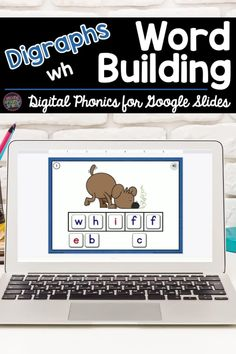 Need digital word work activities for Google Classroom? This Google Slides Digraph Word Building resource includes ten word building Google Slides. Each slide features a picture of a word spelled with digraph wh, clickable audio so students can hear the word pronounced, and word building tiles. Students click and drag the tiles to spell each word. Perfect online activity for students in first grade, kindergarten, or 2nd grade! Word Work Games, Word Work Activities, Learning Activities, Teaching Vocabulary, Teaching Phonics, Teaching Kindergarten, Digital Word, Teaching Second Grade, Phonics Words