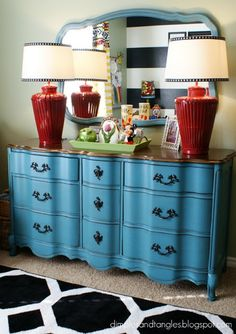 Dimples and Tangles: {Our Home} - dresser